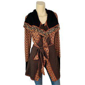 BKE Sweater M Women's Long Belted Fall Cardigan